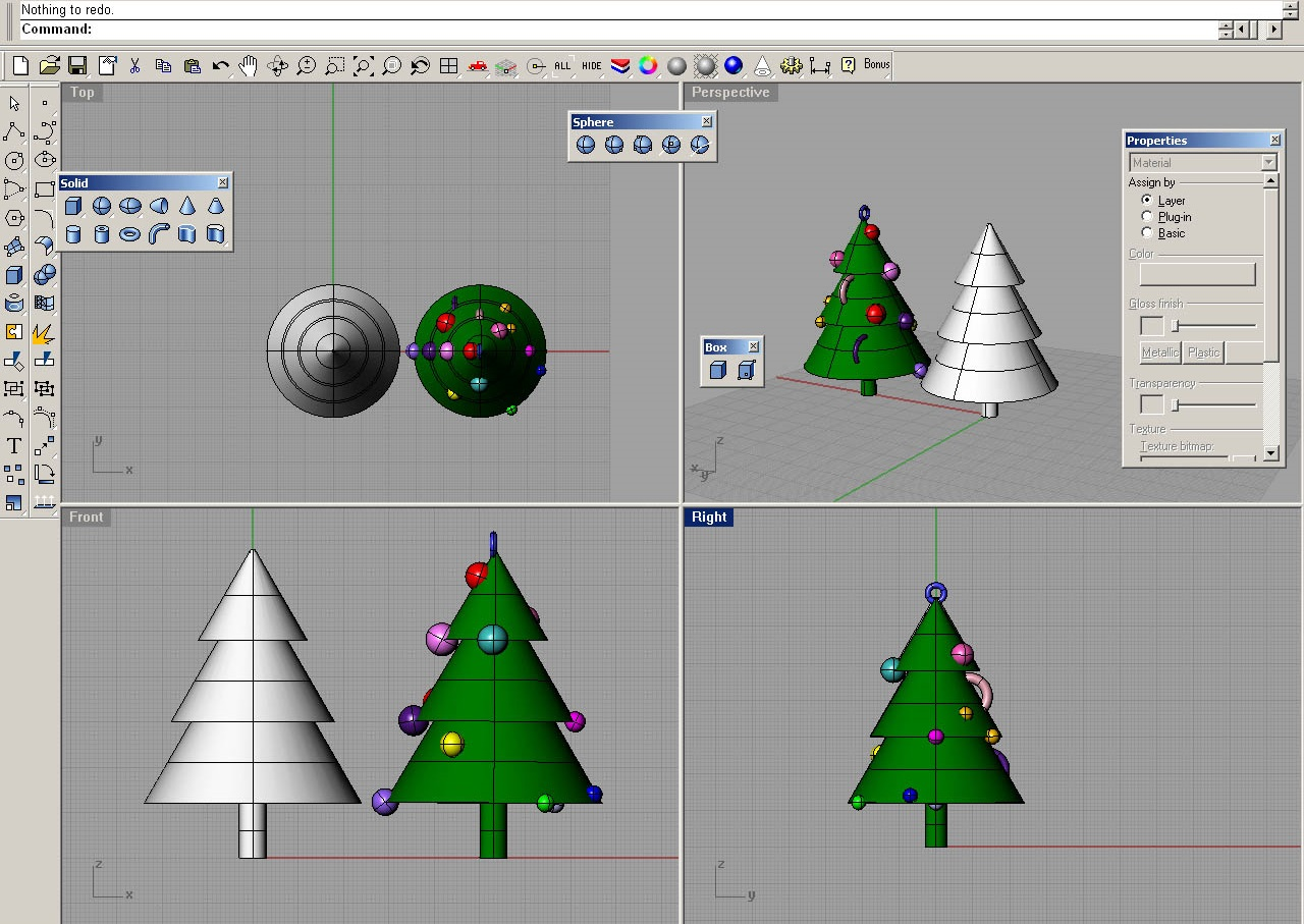 Where did the Christmas tree design originate